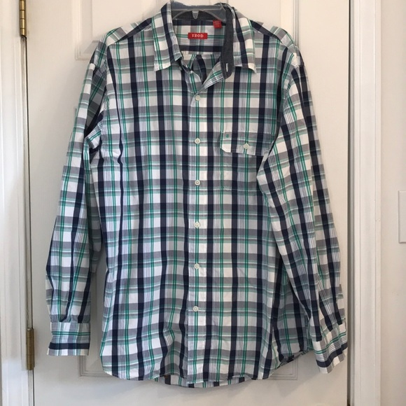 Izod Other - Izod blue and green button down shirt